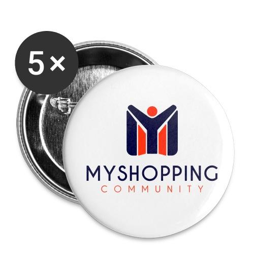 logo MYSC verticale - Confezione da 5 spille piccole (25 mm)