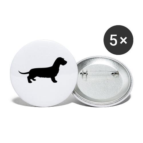 Rauhhaardackel - Buttons klein 25 mm (5er Pack)