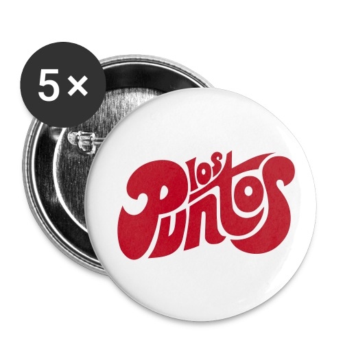 PUNTOS Blanco - Paquete de 5 chapas pequeñas (25 mm)