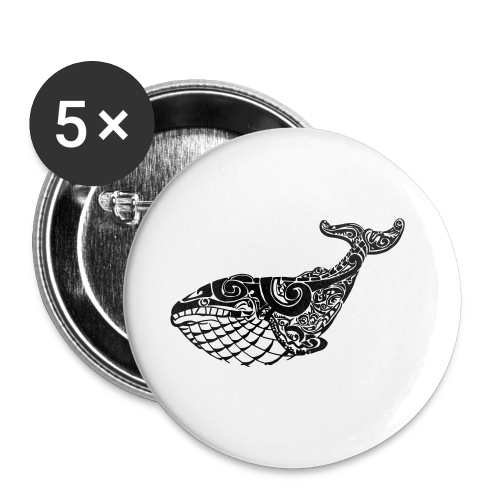 The Blue Whale - Buttons small 1''/25 mm (5-pack)
