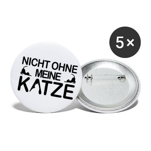 nicht ohne meine Katze - Buttons klein 25 mm (5er Pack)