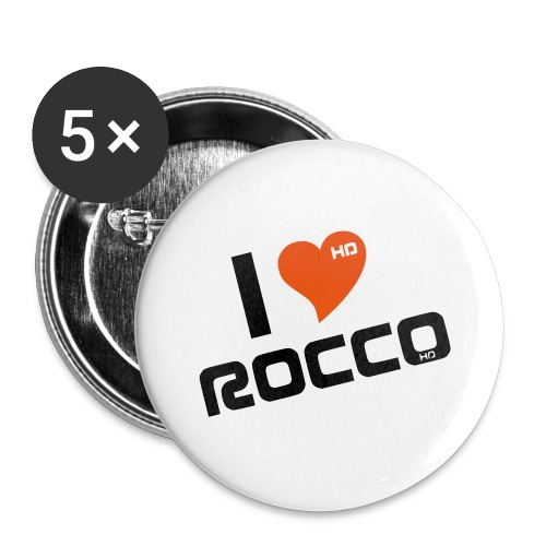 I LOVE ROCCO - Buttons klein 25 mm (5er Pack)