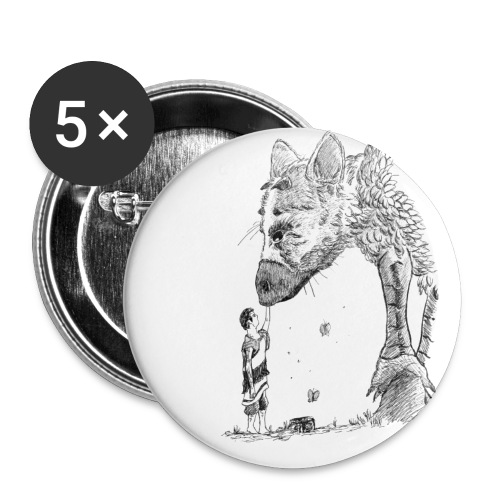 The Guardian and the Child - Lot de 5 petits badges (25 mm)