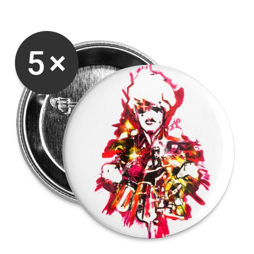 cerrone graphique - Lot de 5 petits badges (25 mm)