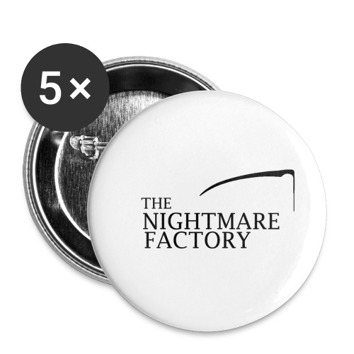 nightmare factory Nero png - Buttons small 1''/25 mm (5-pack)