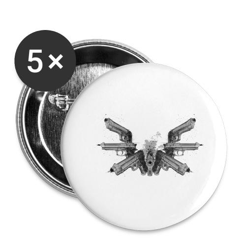 guns wings.png - Lot de 5 petits badges (25 mm)