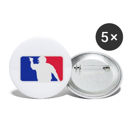 Baseball Umpire Logo - Buttons small 1''/25 mm (5-pack)