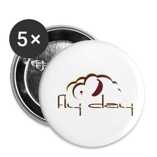 Fly Day - Lot de 5 petits badges (25 mm)