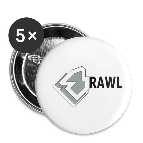 PANDA ONLY LOGO - Buttons klein 25 mm (5-pack)