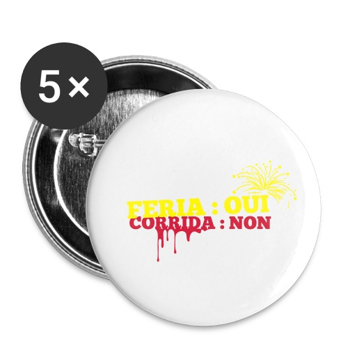 feria - Lot de 5 petits badges (25 mm)
