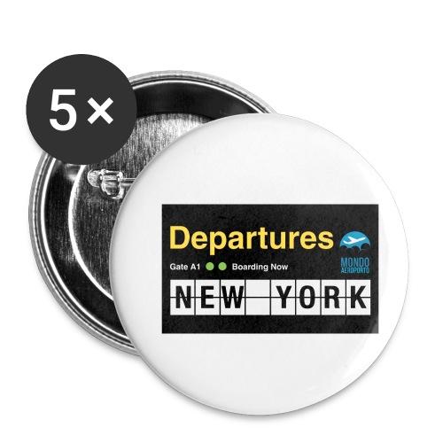 Departures Defnobarre 1 png - Confezione da 5 spille piccole (25 mm)