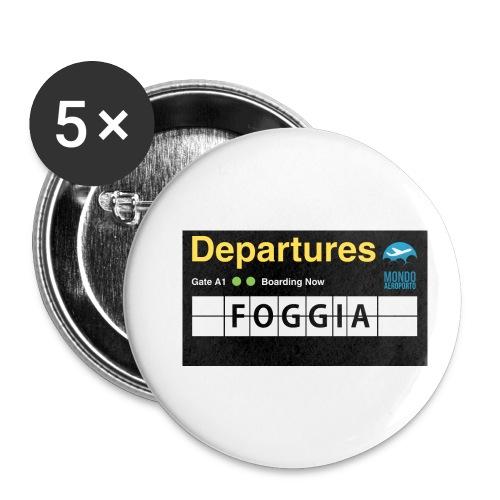 foggia png - Confezione da 5 spille piccole (25 mm)