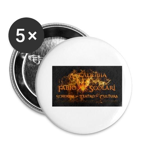 Accademia_Fabio_scolari_nero-png - Confezione da 5 spille piccole (25 mm)