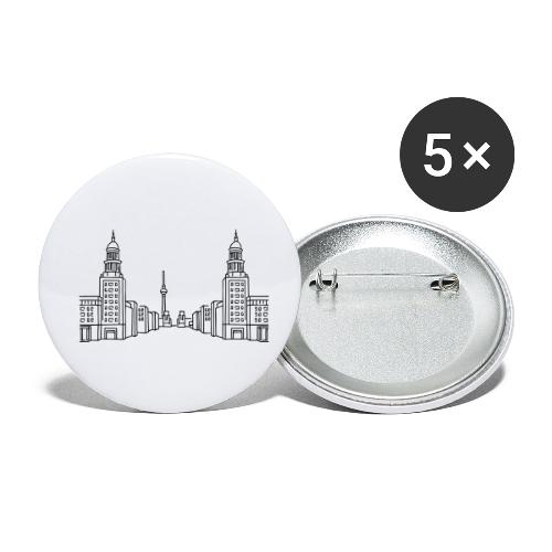 Frankfurter Tor Berlin - Buttons klein 25 mm (5er Pack)