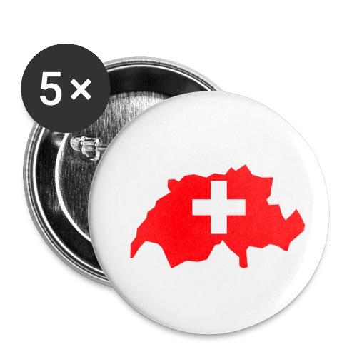 Switzerland - Buttons klein 25 mm (5-pack)