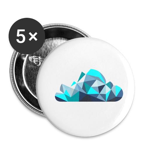'CLOUD' Mens T-Shirt - Buttons small 1''/25 mm (5-pack)