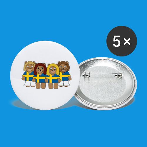 Abba Sweden Bears.png - Buttons small 1''/25 mm (5-pack)