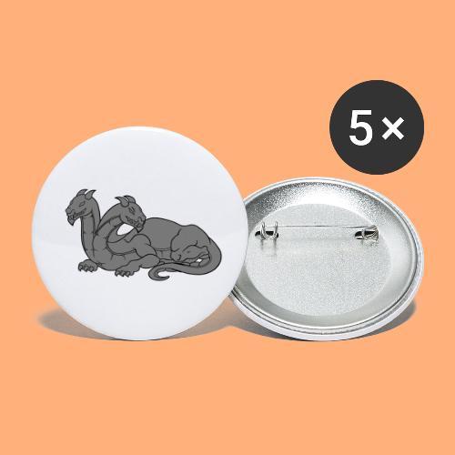 dragon 2 - Lot de 5 petits badges (25 mm)