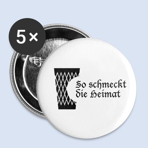 Geripptes mit Biss - Buttons klein 25 mm (5er Pack)