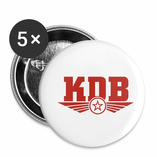 KDB - Buttons small 1''/25 mm (5-pack)