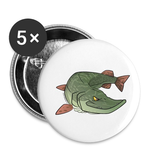 Red River: Pike - Buttons small 1''/25 mm (5-pack)