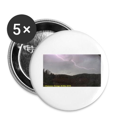 6é photo de l orage du 28 mai 2016 JPG - Lot de 5 petits badges (25 mm)