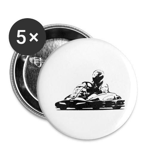 Kart Silhouette T-Shirt - Buttons small 1''/25 mm (5-pack)