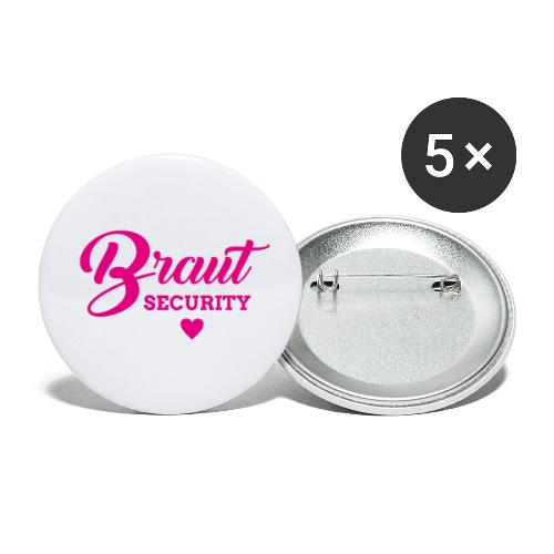 BRAUT SECURITY - Buttons klein 25 mm (5er Pack)