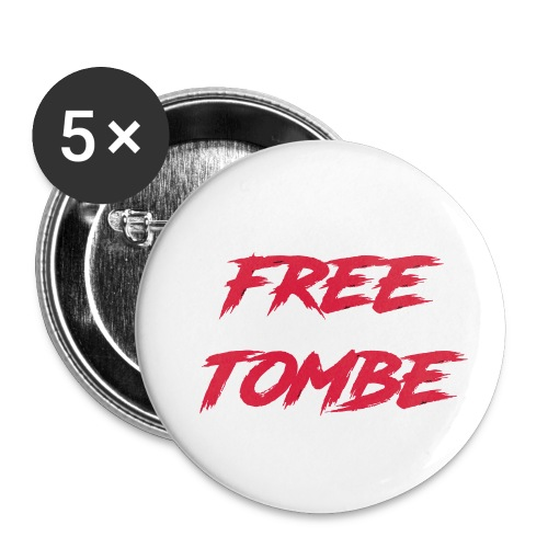 FREE TOMBE AI - Buttons klein 25 mm (5er Pack)