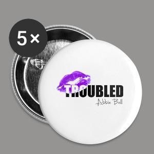 Official TROUBLED blk LOGO - Buttons small 25 mm