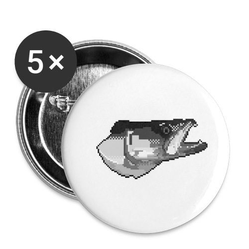 Pixel Zander Tee - Små knappar 25 mm (5-pack)
