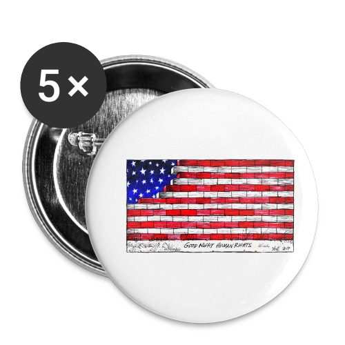 Good Night Human Rights - Buttons small 1''/25 mm (5-pack)