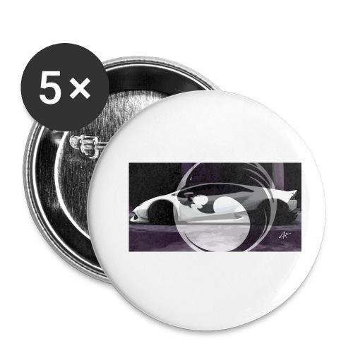 lion black lyon design - Buttons small 1''/25 mm (5-pack)