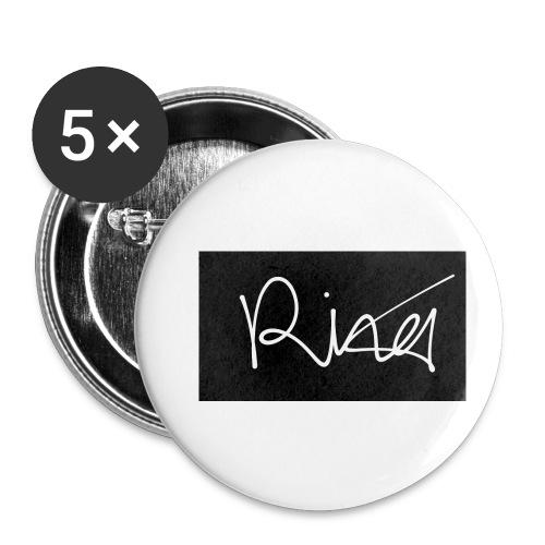 Autogramm - Buttons klein 25 mm (5er Pack)