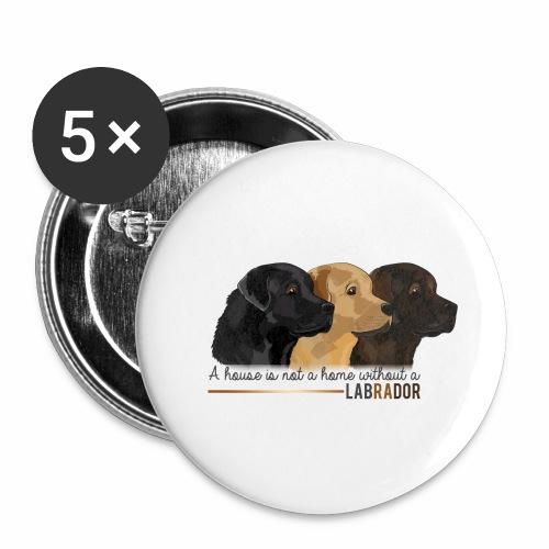 Labrador - Lot de 5 petits badges (25 mm)