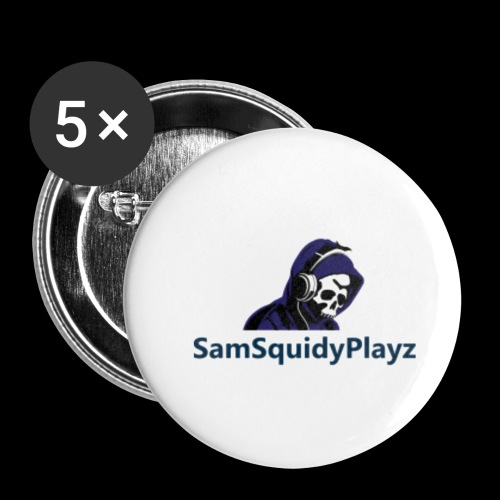 SamSquidyplayz skeleton - Buttons small 1''/25 mm (5-pack)