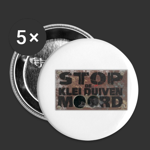 kleiduivenmoord - Buttons klein 25 mm (5-pack)