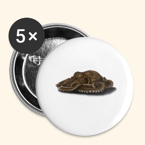Oktopus - Buttons klein 25 mm (5er Pack)