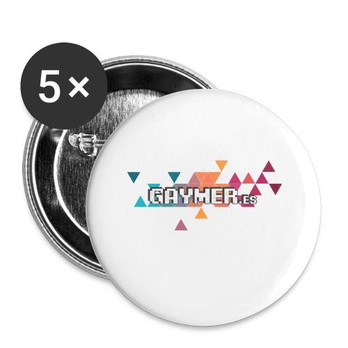 Logo Gaymer.es - Paquete de 5 chapas pequeñas (25 mm)