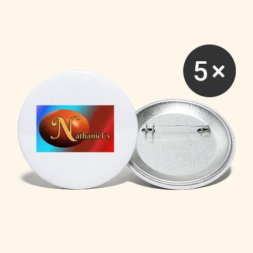 NathanielsLogo2 - Buttons klein 25 mm (5er Pack)