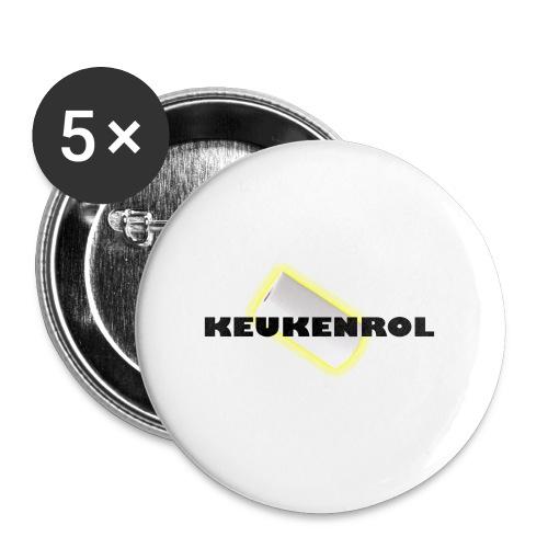 Keukenrol - Buttons klein 25 mm (5-pack)