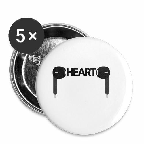 ListenToYourHeart - Przypinka mała 25 mm (pakiet 5 szt.)