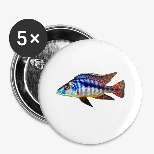 MIXED AFRICAN CICHLIDS - Buttons small 1''/25 mm (5-pack)
