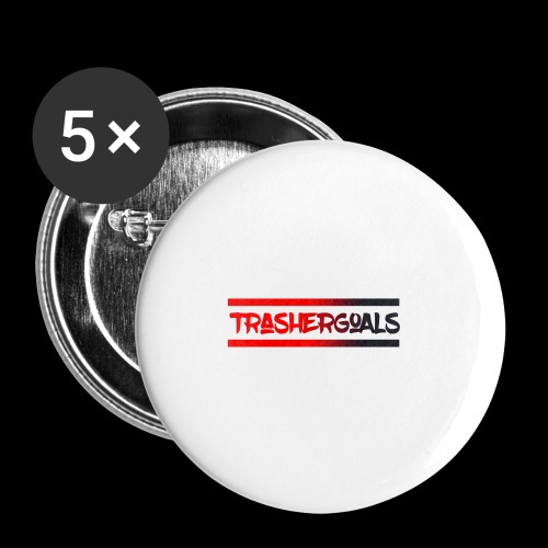 trashergoals lgo red-black - Buttons klein 25 mm (5-pack)