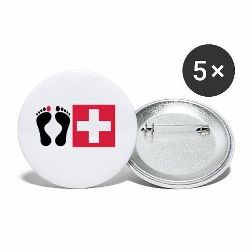 Barfussschweiz - Swiss-Collection - Buttons klein 25 mm (5er Pack)