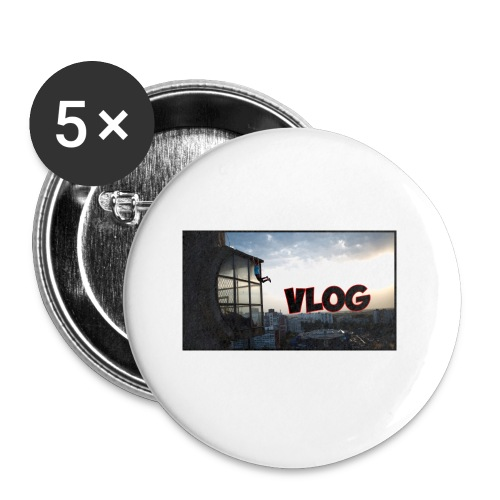 Vlog - Buttons small 1''/25 mm (5-pack)