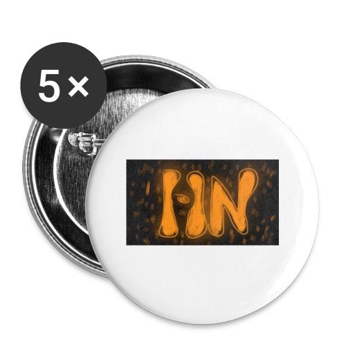 Logró de tienda - Paquete de 5 chapas pequeñas (25 mm)