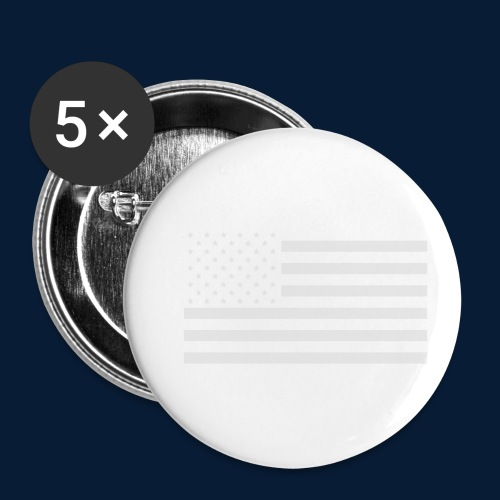 Stars and Stripes White - Buttons klein 25 mm (5er Pack)
