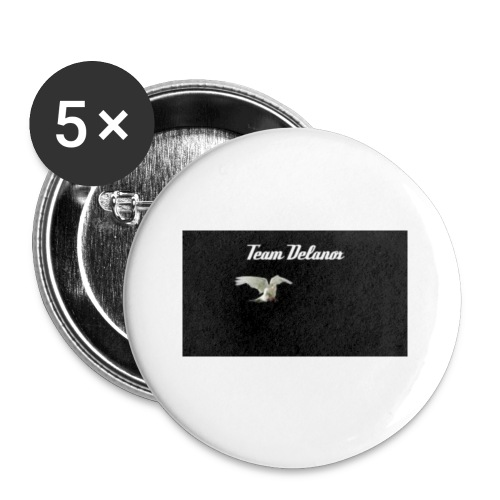 Team Delanox - Lot de 5 petits badges (25 mm)