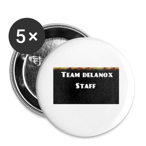 T-shirt staff Delanox - Lot de 5 petits badges (25 mm)